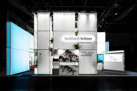 The booth of Burhardt Leitner at the EuroShop 2020