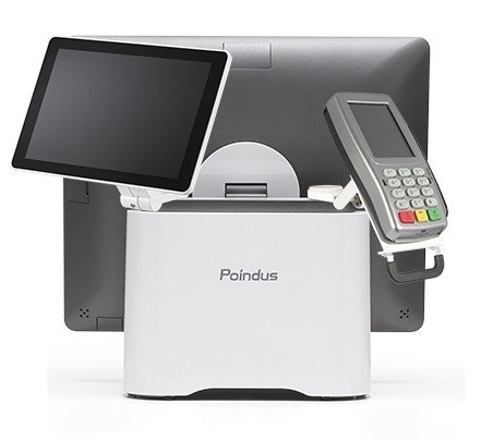 A payment terminal for a point of sale with screen and card payment device...