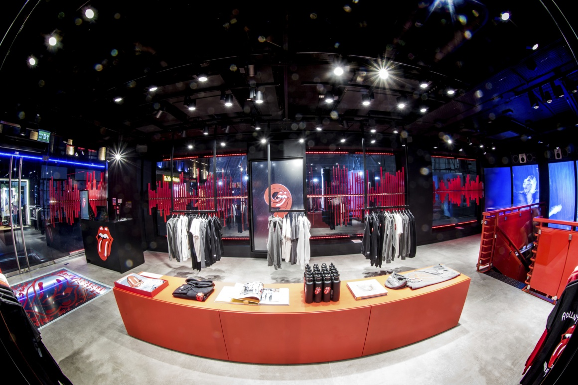 A view inside the Rolling Stone flagship store in London...