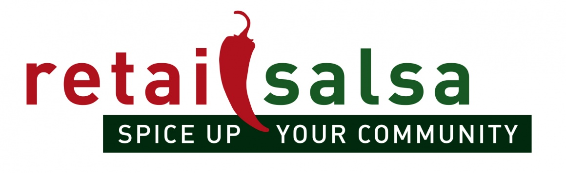 Logo: Retail Salsa - Spice up your community
