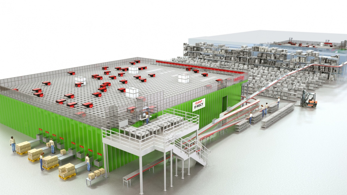 Rendering of a logistics fulfillment station; copyright: Ahold Delhaize USA...